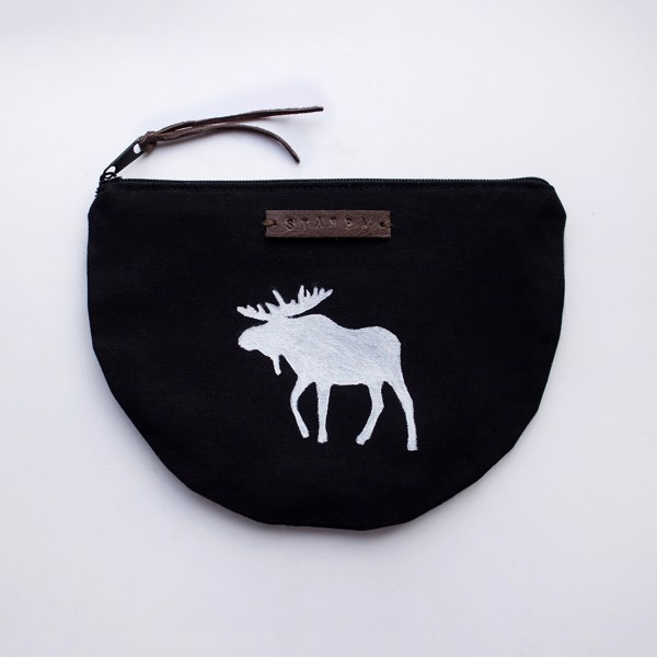 Picture of Halfmoon Moose Zipper Pouch