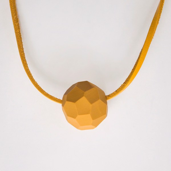 Picture of Large Mustard Necklace 'Stones'