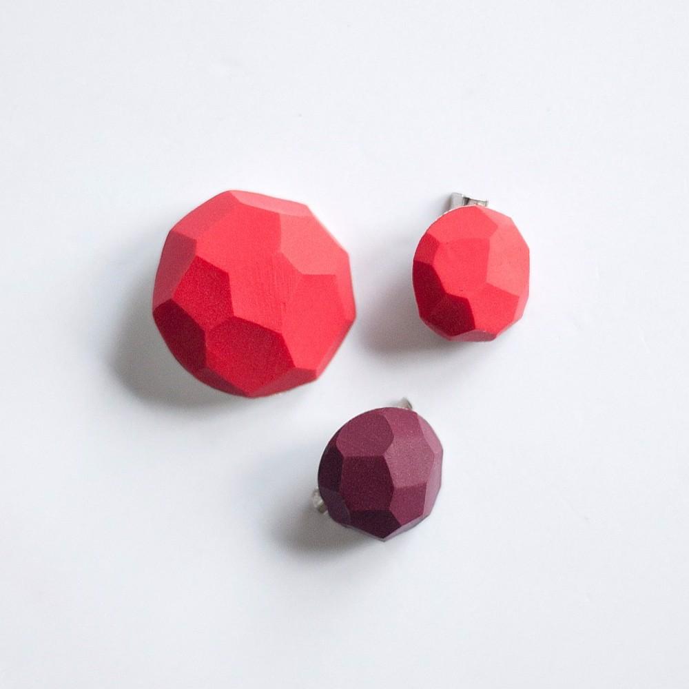 Снимка на Сет от брошки Red Berries 'Stones'