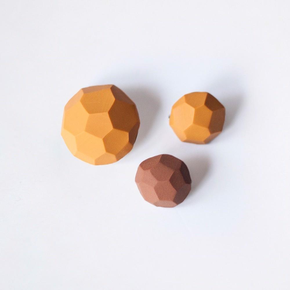 Снимка на Сет брошки Mustard 'Stones'