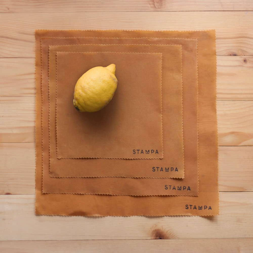 Picture of 4pcs Reusable Beeswax Food Wraps - Mustard Set