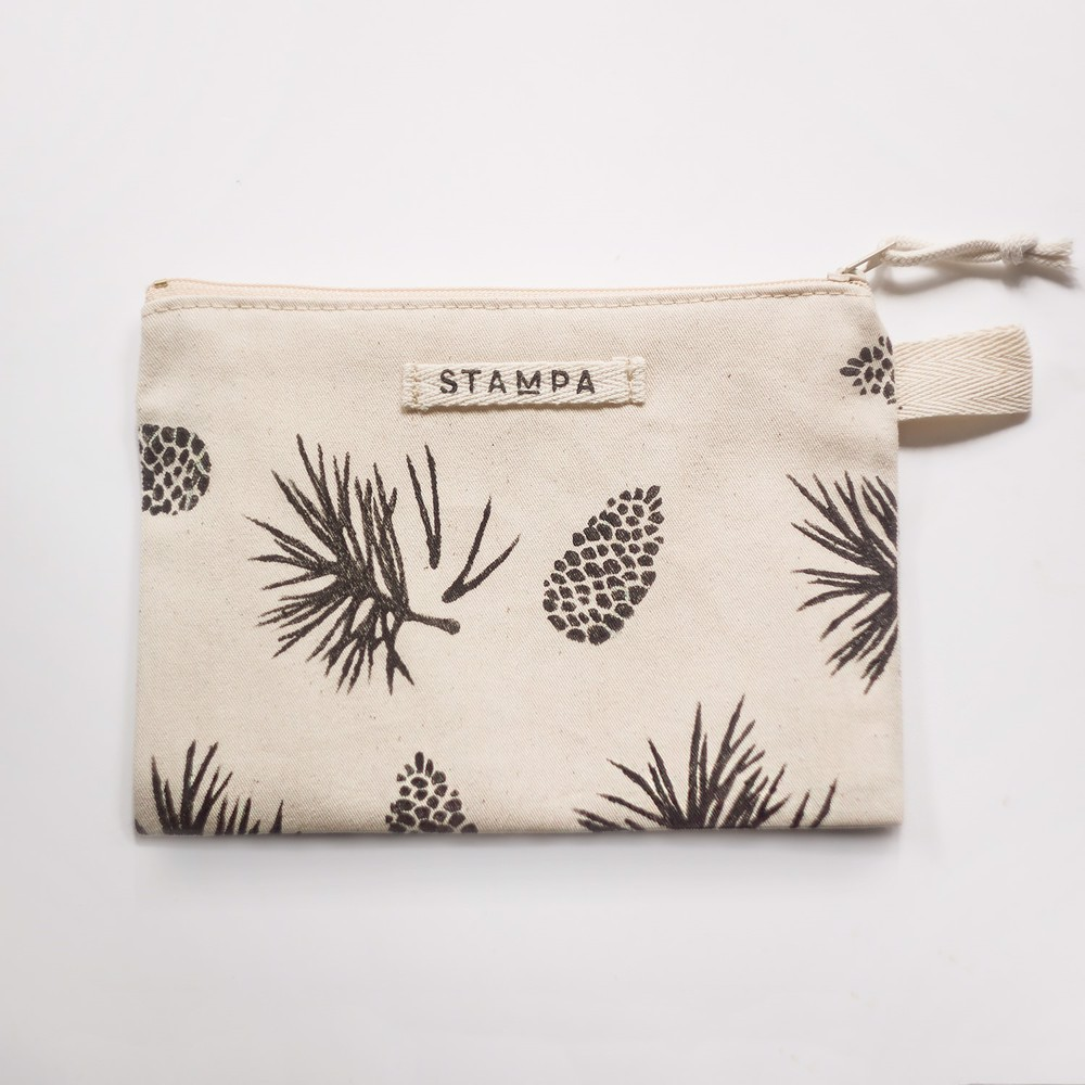 Picture of Pine and needles Zipper Vegan Pouch