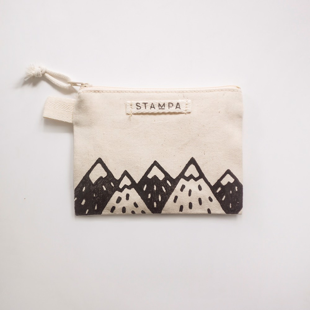 Picture of Small Mountains Zipper Vegan Pouch