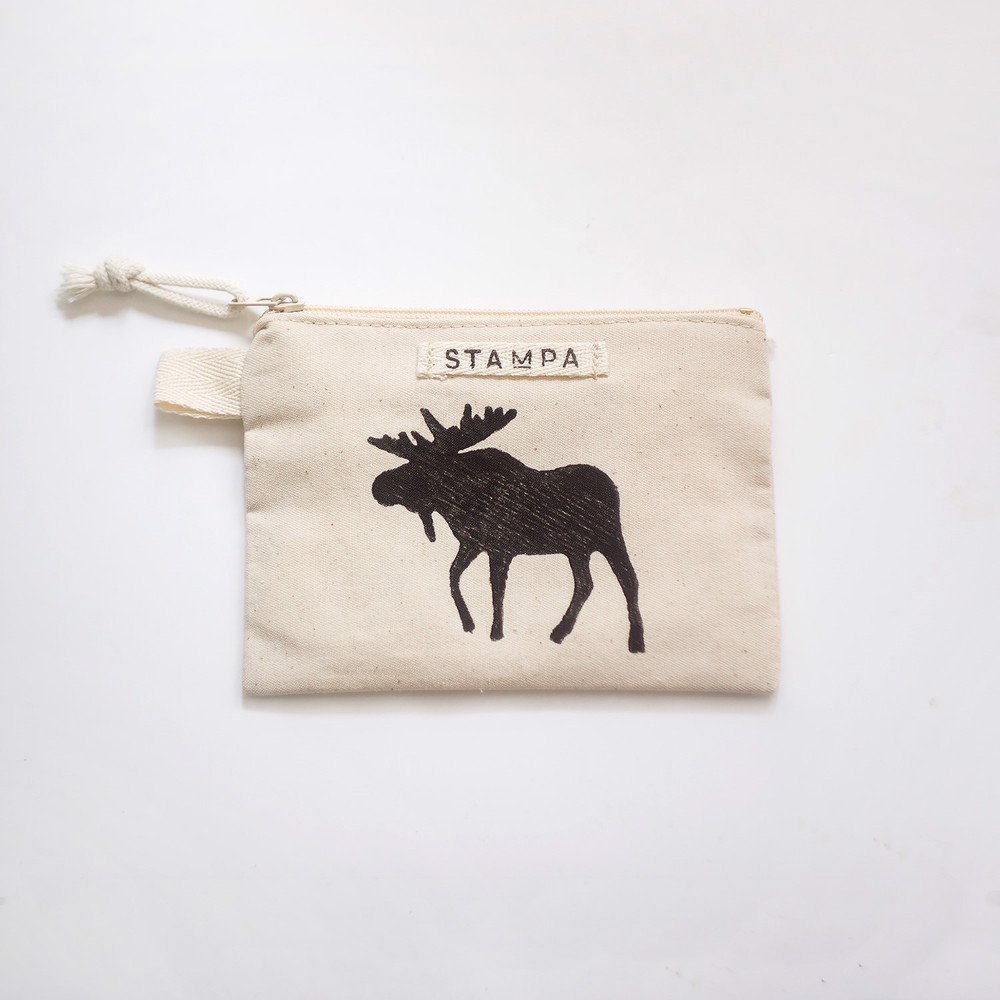 Picture of Small Moose Zipper Vegan Pouch