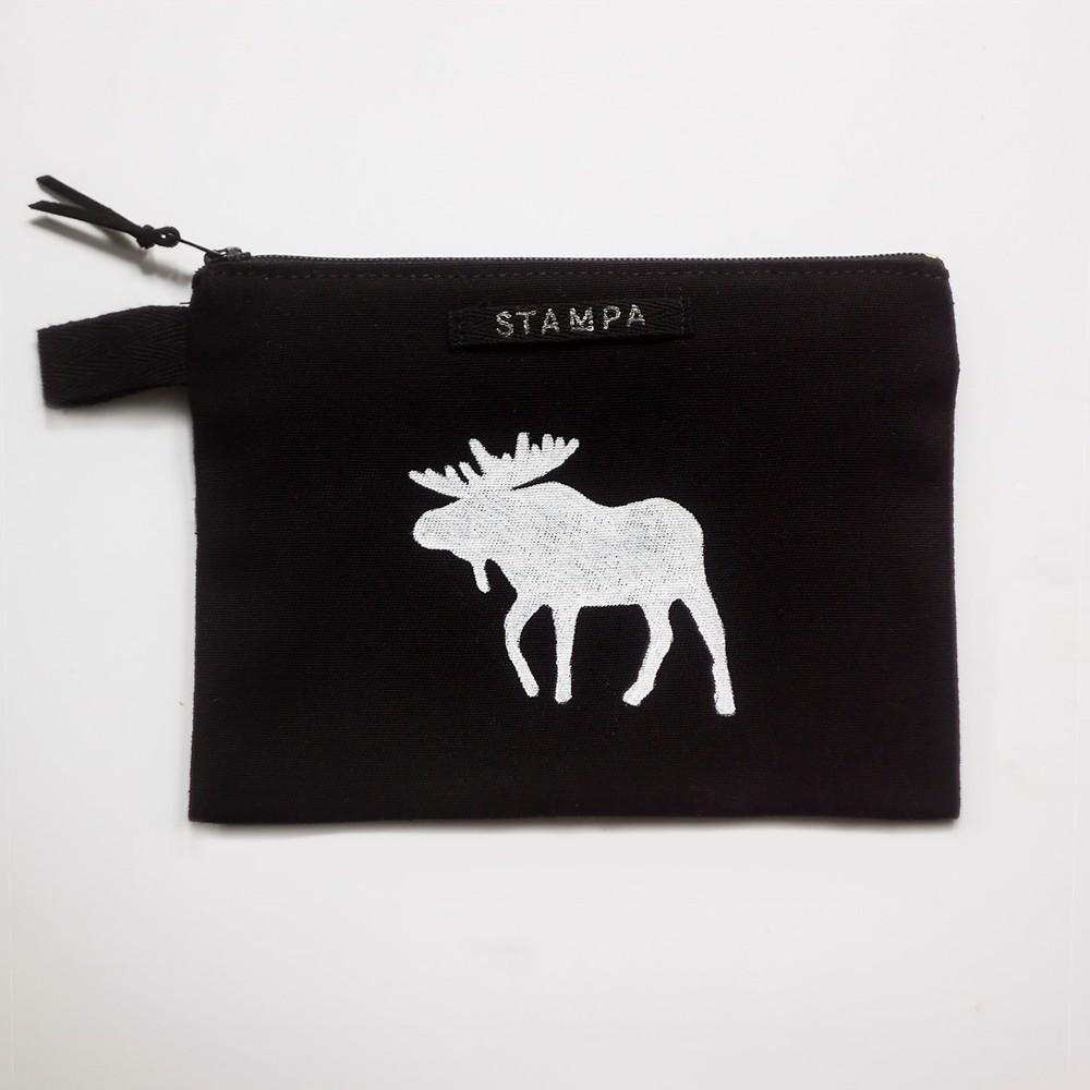 Снимка на Веган черен несесер с лос