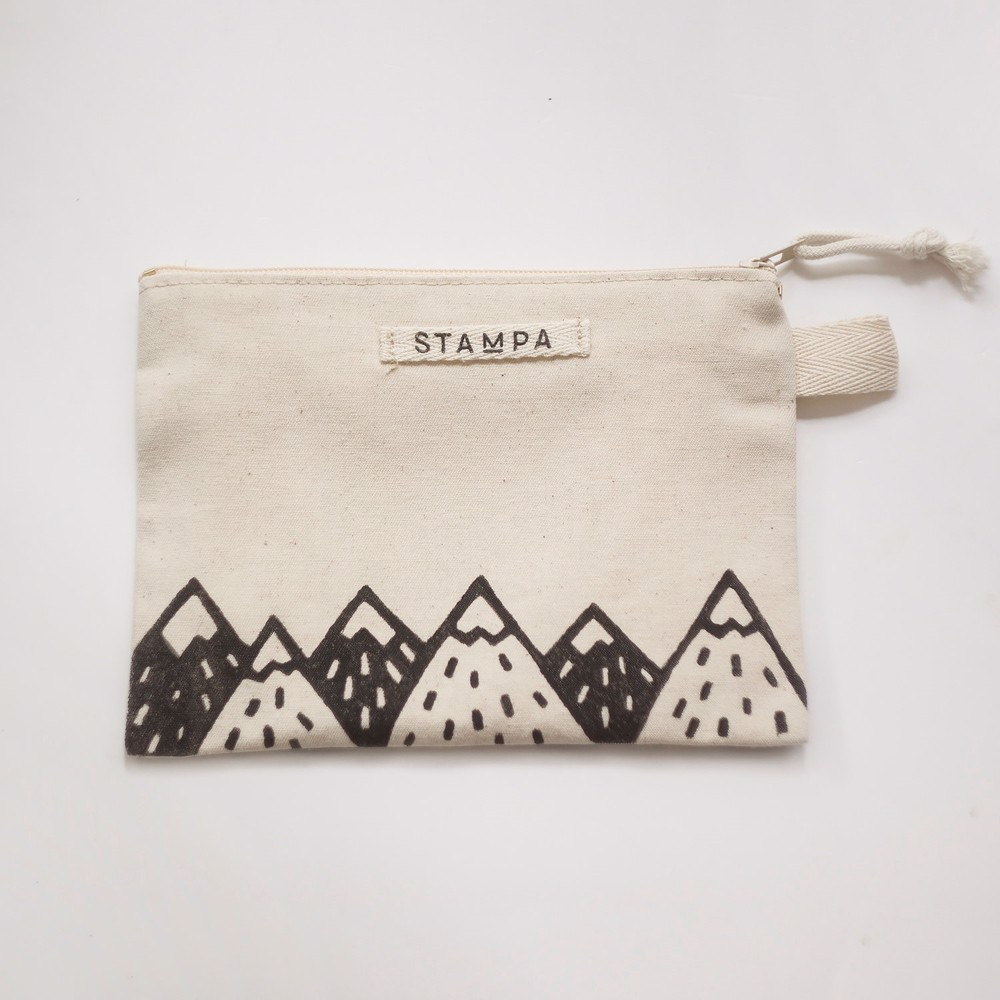 Picture of Mountains Zipper Vegan Pouch