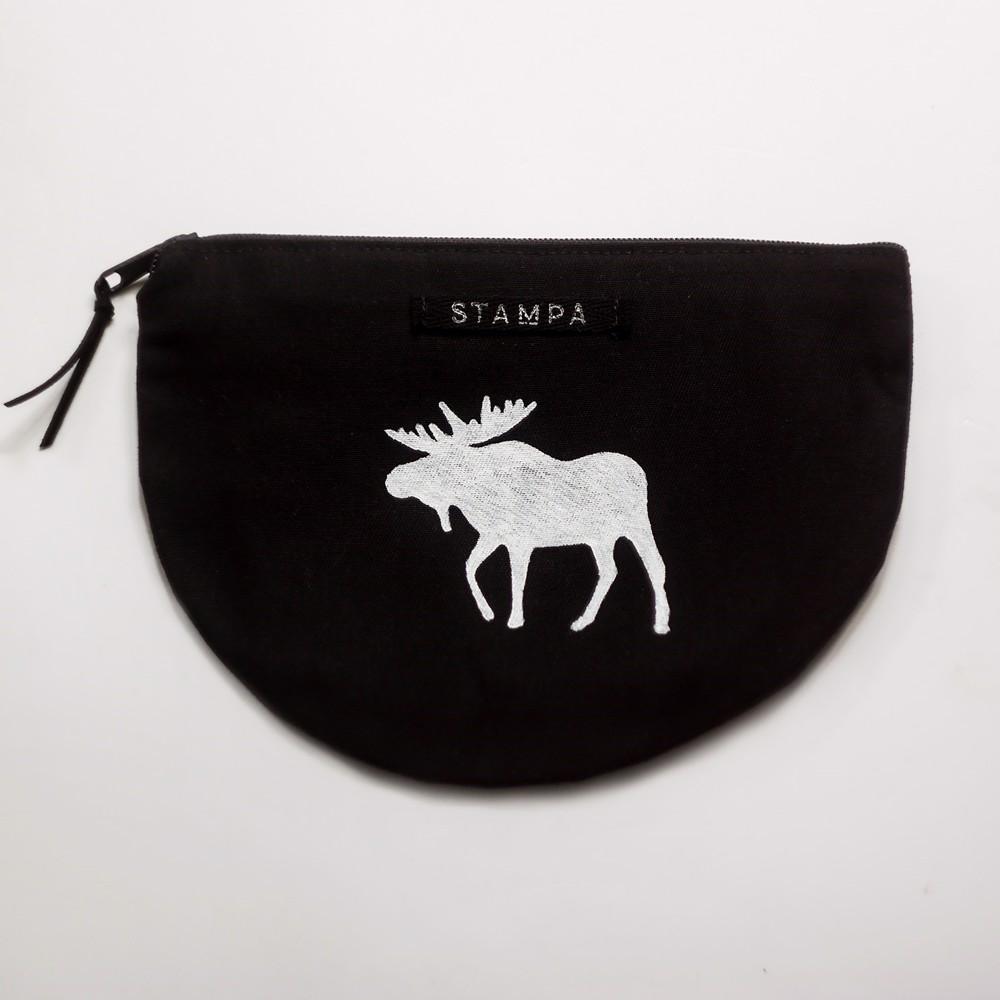 Picture of Halfmoon Moose Zipper Vegan Pouch