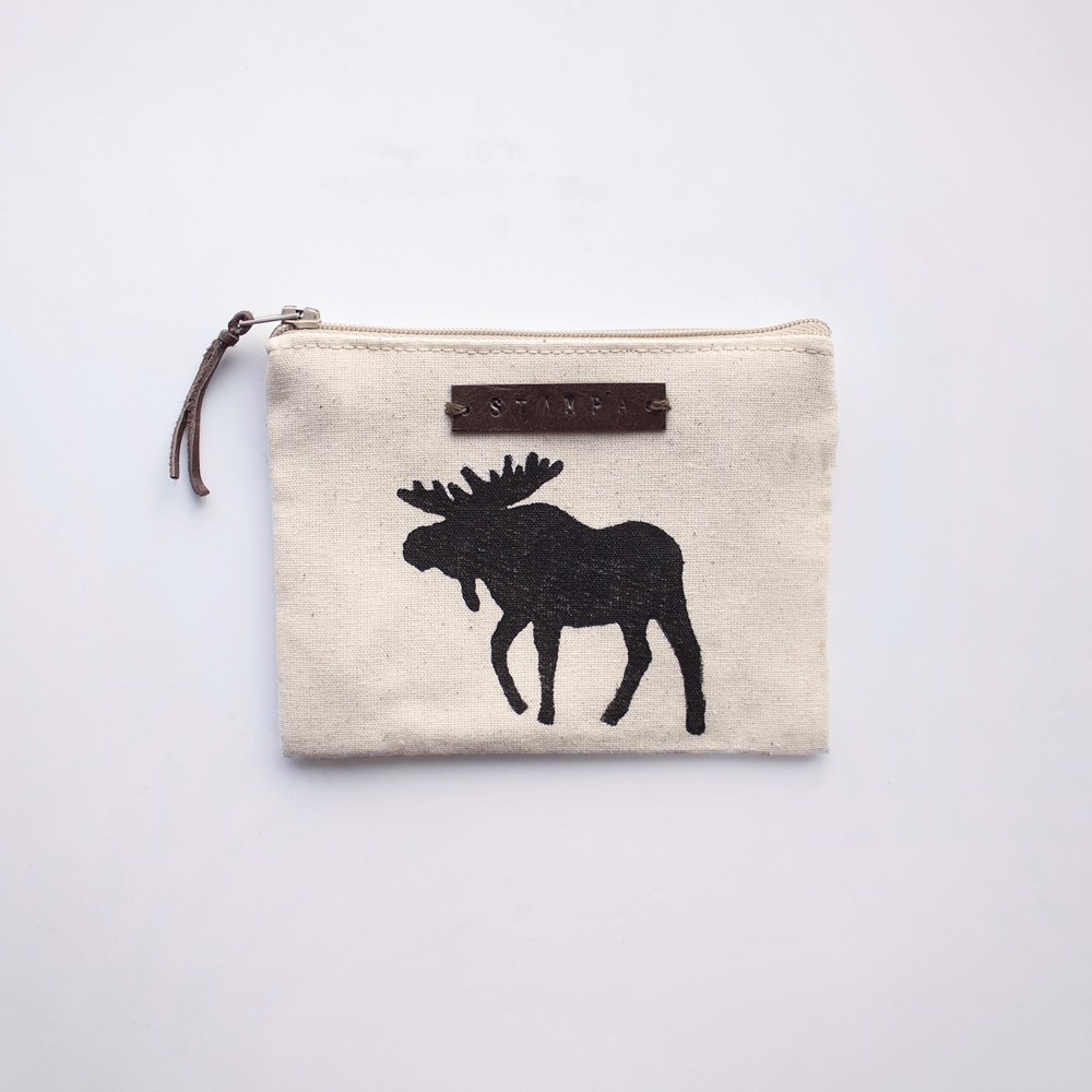 Picture of Small Moose Zipper Pouch