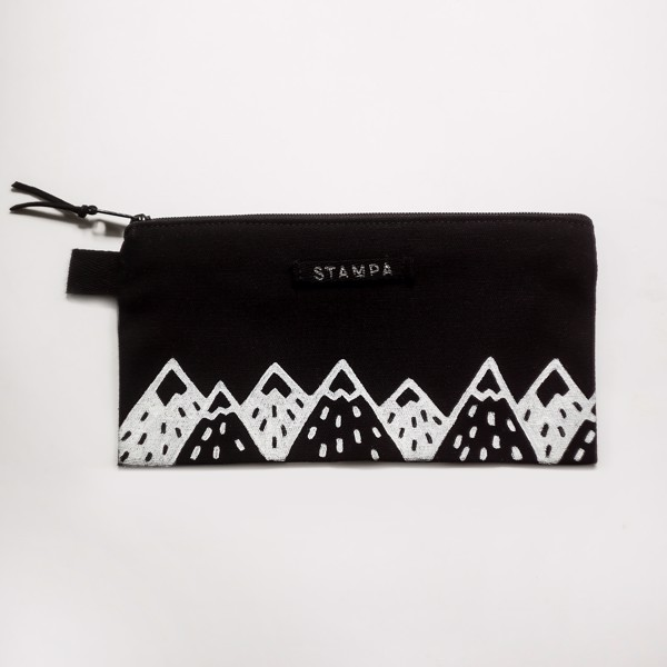 Picture of Long Black Mountains Zipper Vegan Pouch