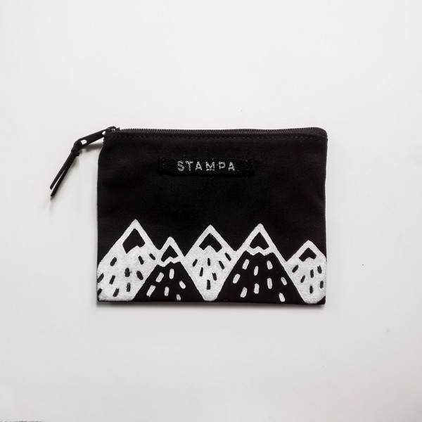 Picture of Small Black Mountains Zipper Vegan Pouch