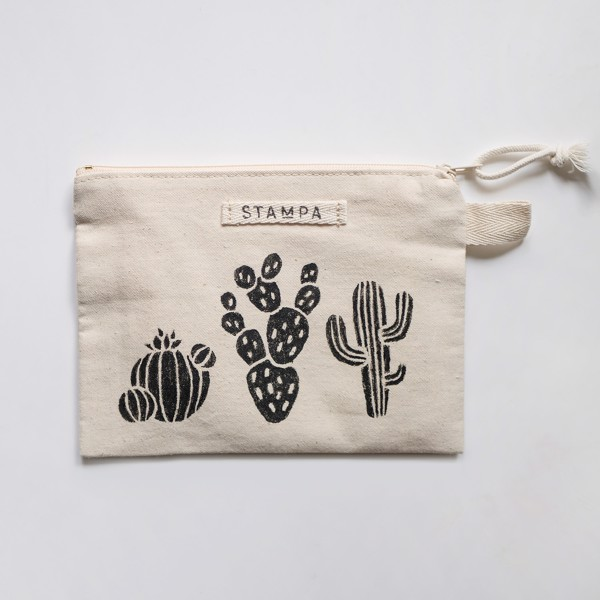 Picture of Cacti Zipper Vegan Pouch