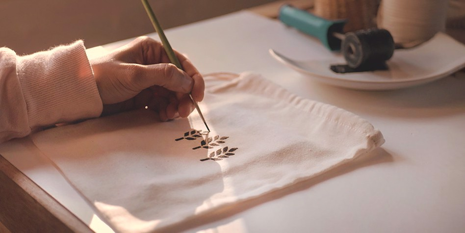 How it's made / Stampa Reusable Shopping Pouches