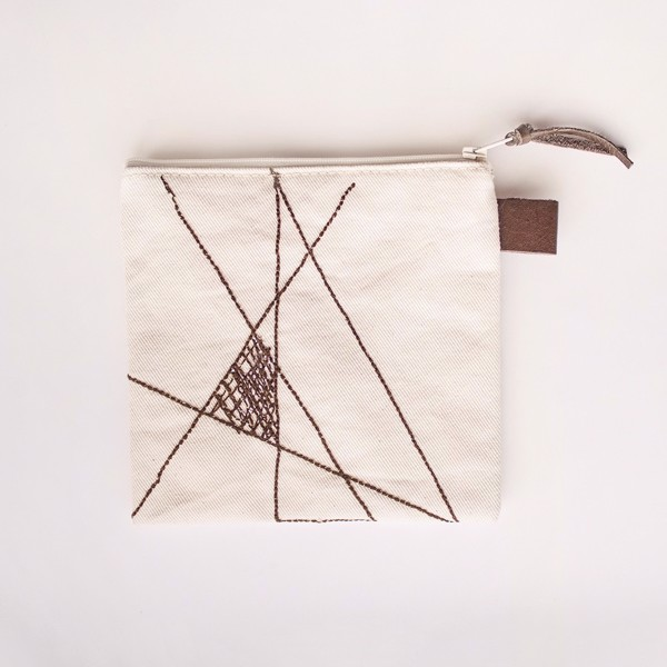 Picture of Geometric Zipper Pouch