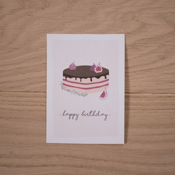 Picture of Fig Cake Greeting Card