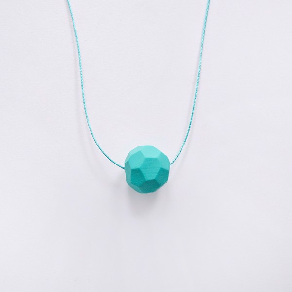 Снимка на Tiny Mint Necklace 'Stones'