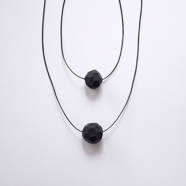 Picture of Double Raven Necklace 'Stones'