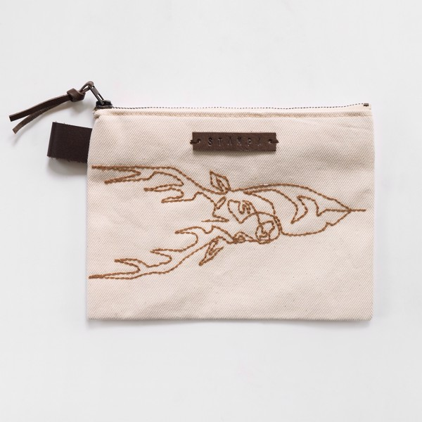 Picture of Embroidery Elk Zipper Pouch