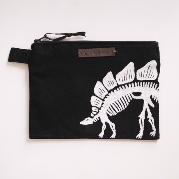 Picture of Black Dino Zipper Pouch