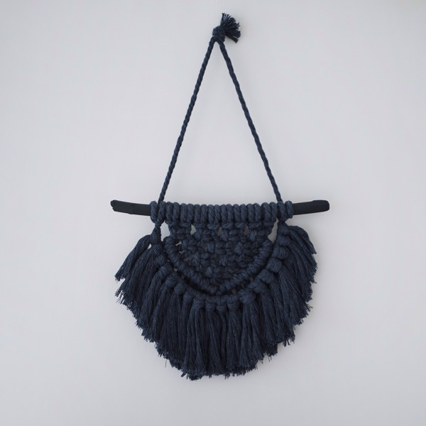 Picture of Small Graphite Macrame Wall Hanging