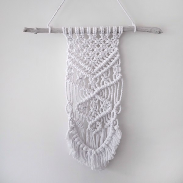Picture of Large White Macrame Wall Hanging